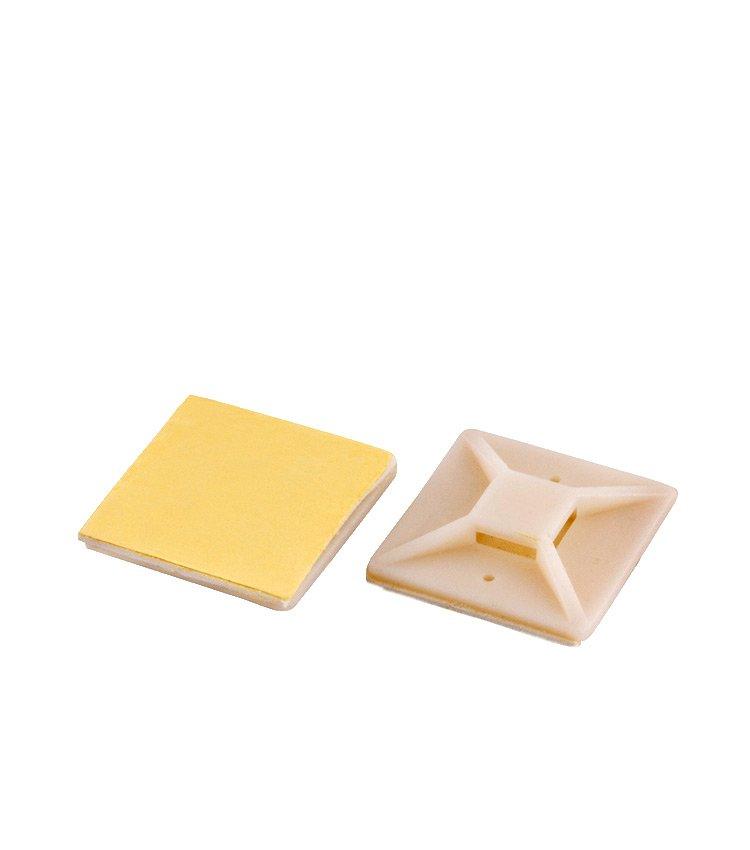 Suporte Auto Adesivo Branco para Abraçadeira TM30-B. Dimensão: 30x30mm (Quantidade mínima múltiplos de 100 unidades)