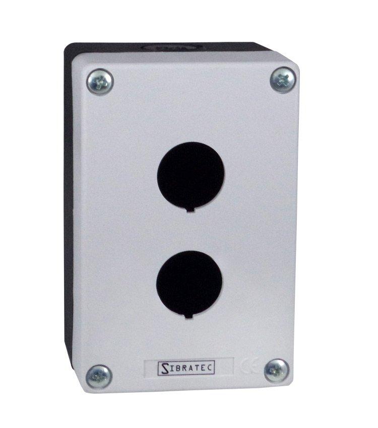 Caixa Plástica Branca BX1/2 com 2 Furos 22mm - Dimensões: 110x70x65mm (CxLxH)