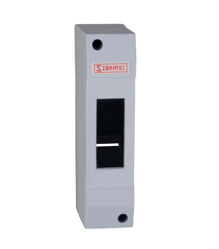 Caixa Plástica de Sobrepor Para Disjuntor DIN 1 Polo - Dimensões: 130x32x62mm (HxLxP)