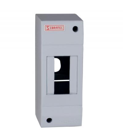 Caixa Plástica de Sobrepor Para Disjuntor DIN 1 ou 2 Polos (destacável) - Dimensões: 130x50x62mm (HxLxP)