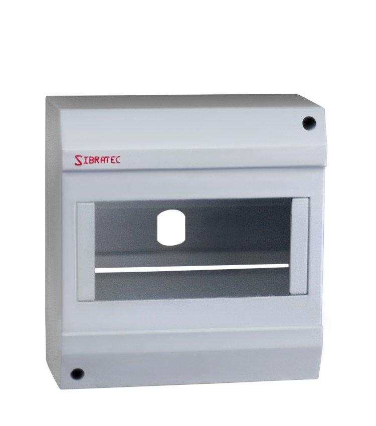 Caixa Plástica de Sobrepor Para Disjuntor DIN 5 ou 6 Polos (destacável) - Dimensões: 130x122x62mm (HxLxP)