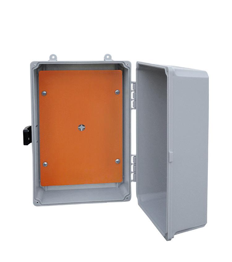 Placa de Montagem Plástica Cor Laranja 165x120mm para Caixas Pequena e Pequena Baixa