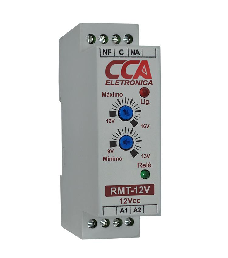 Relé Monitor de Tensão 12Vcc - Ajuste Mínimo (9V~13V) - Máximo (12V~16V)