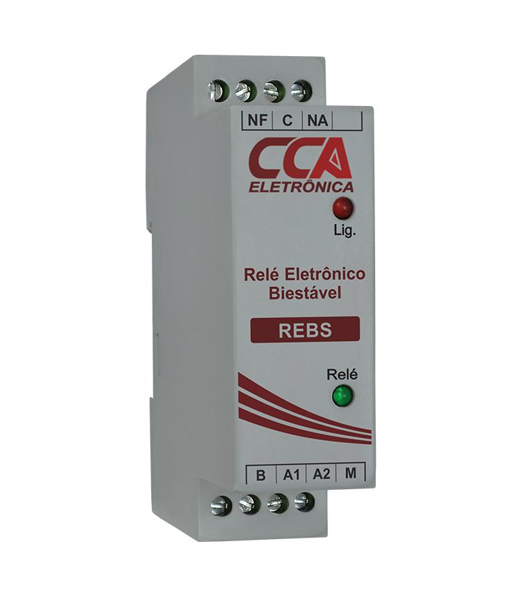 Relé Eletrônico Biestável (Pulso-Liga/ Pulso-Desliga) 24Vca/Vcc - REBS-24V