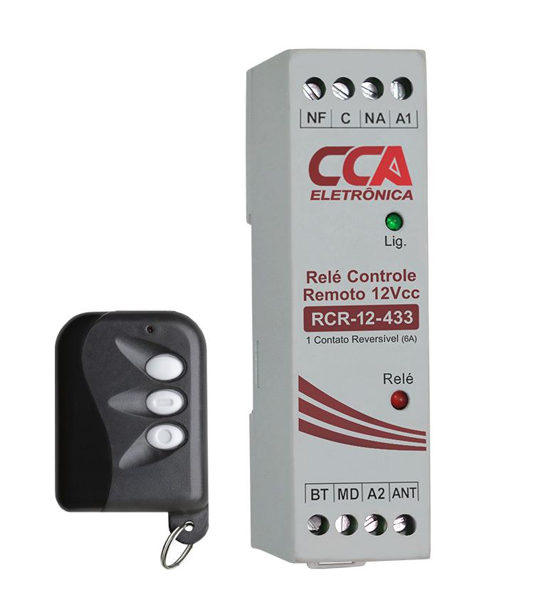 Relé Acionamento Controle Remoto RCR-12-433 12Vcc (Pulso/Retenção). Com 1 controle (433MHz)