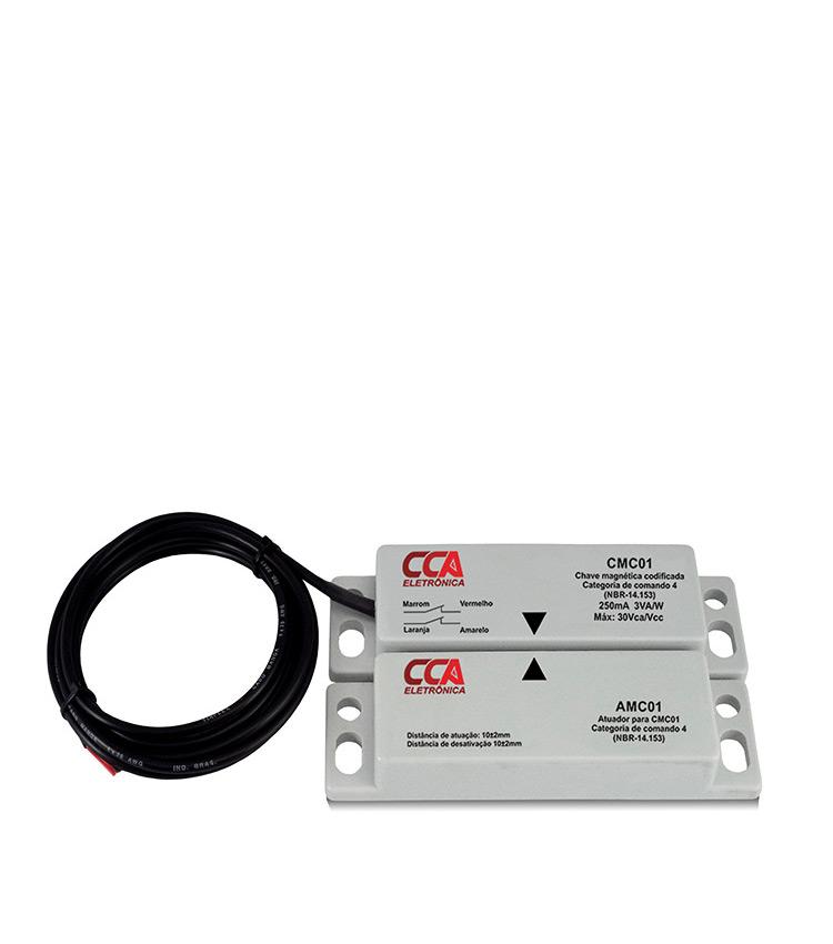 Chave Magnética Codificada CMC01 (sensor+atuador) Contatos 2NF. Categoria comando 4
