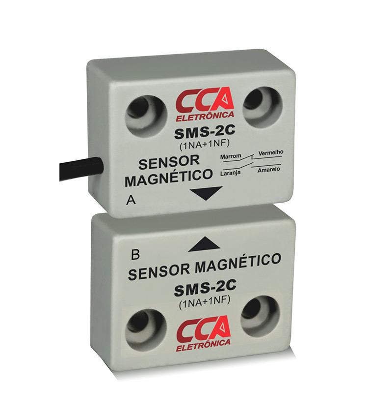 Sensor Magnético de Proximidade. Emissor + Receptor  - Contatos: 1NA+1NF