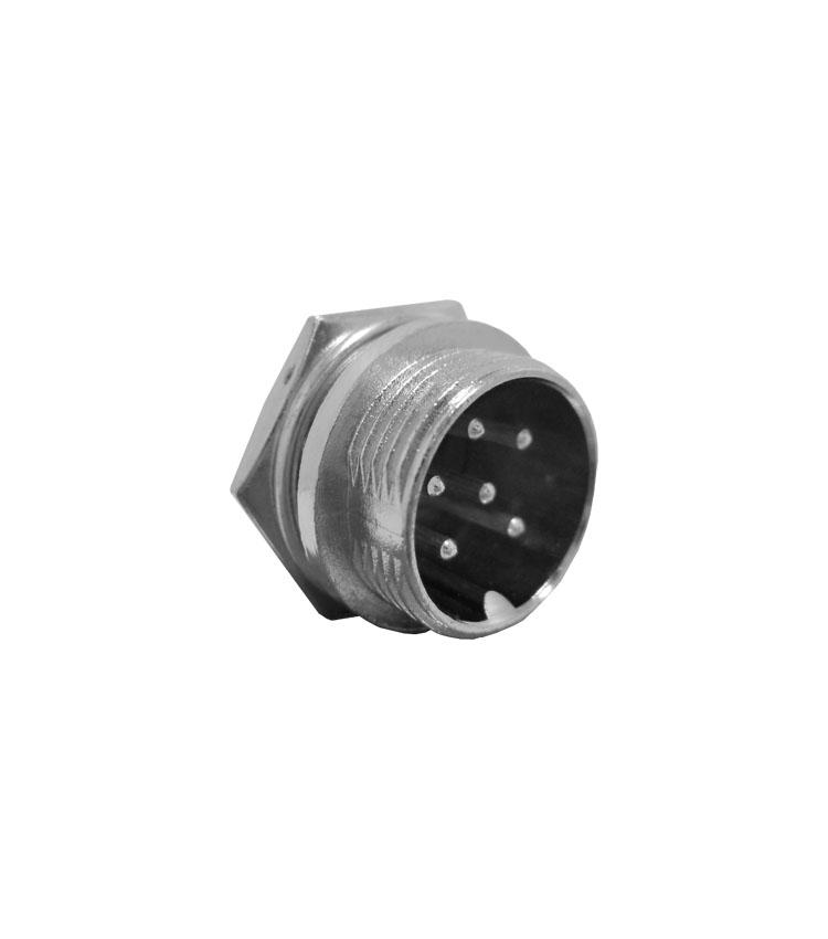 Conector Mike Circular Macho - 6 Vias - Pacote com 5 Peças