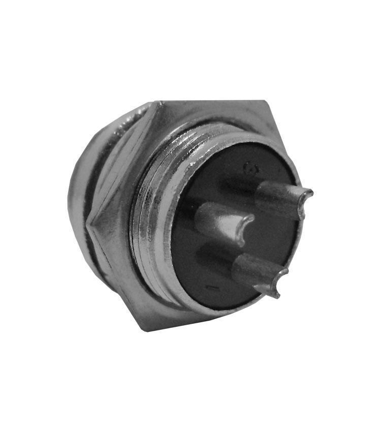 Conector Mike Circular Macho - 3 Vias - Pacote com 5 Peças