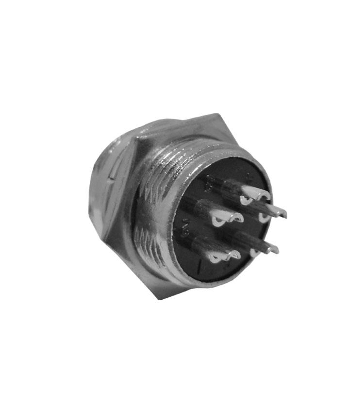 Conector Mike Circular Macho - 5 Vias - Pacote com 5 Peças