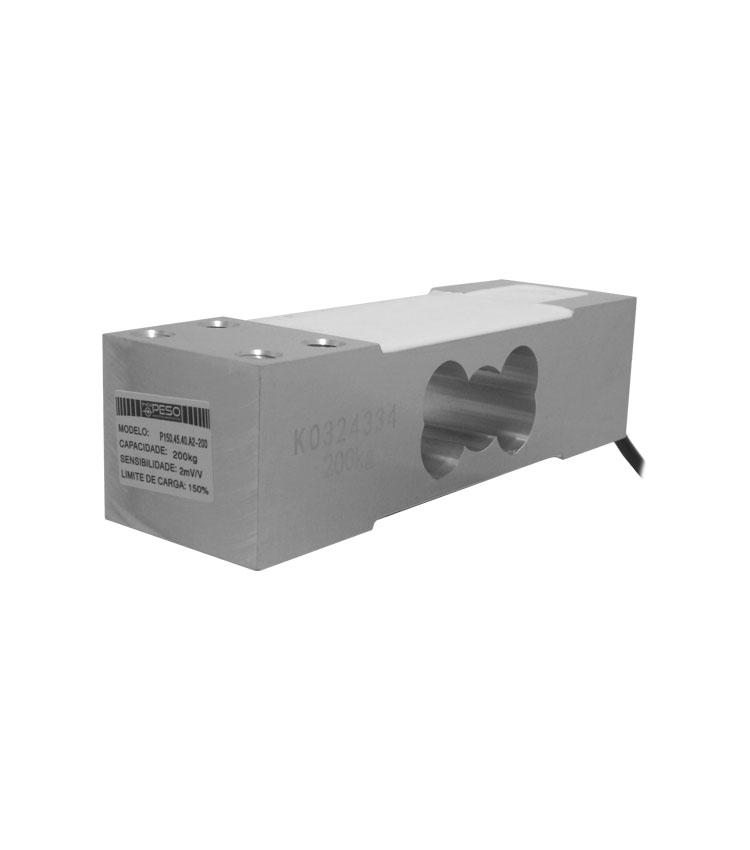 Célula de Carga P150.45.40.A2-200 - Capacidade 200Kg - Alumínio - M8 - IP66