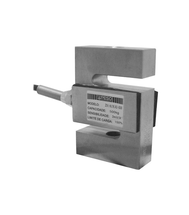 Célula de Carga SZ51X-500 - Capacidade 500Kg - Aço - M12 - IP66  (CZ51.19.76-500)