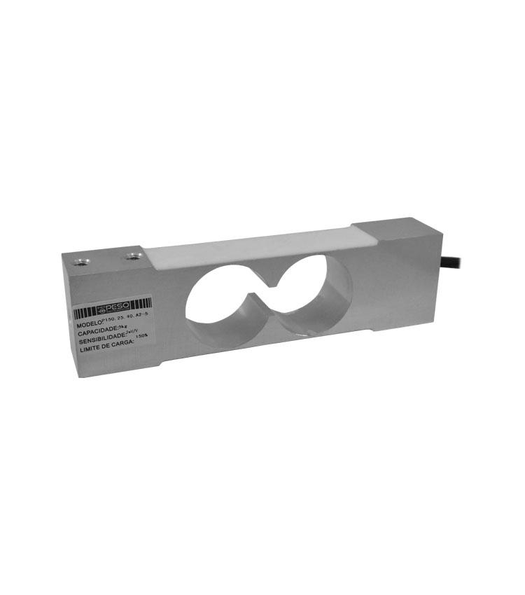 Célula de Carga P150.25.40.A2-5 - Capacidade 5Kg - Alumínio - M6 - IP66