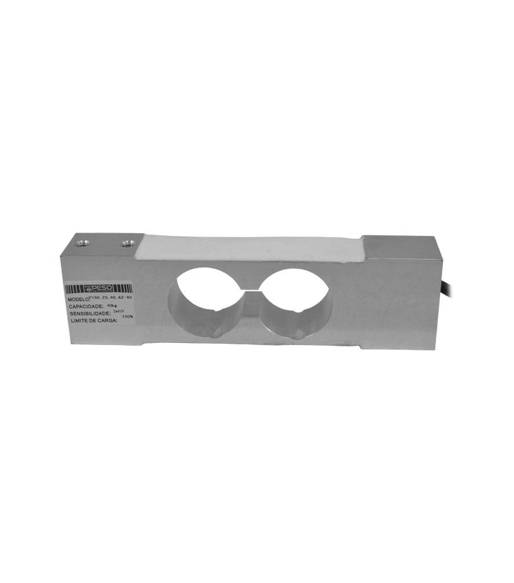 Célula de Carga P150.25.40.A2-40 - Capacidade 40Kg - Alumínio - M6 - IP66