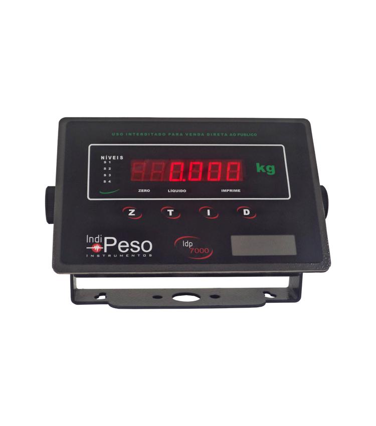 Indicador de Peso IDP7000 PLUS em Aço Carbono com 4 Saídas e RS485 ModBus RTU - 176x115mm