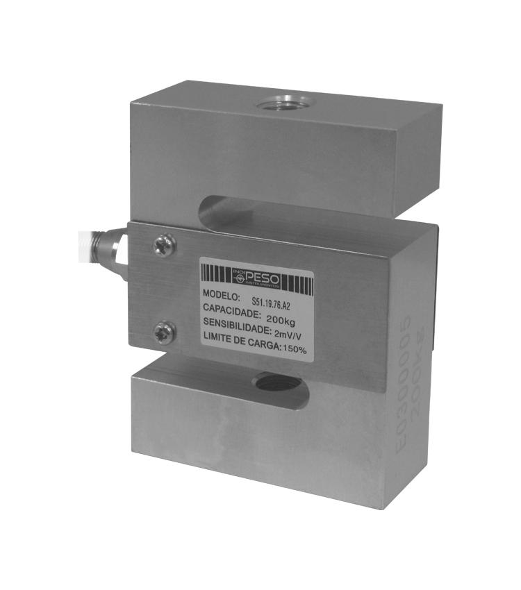 Célula de Carga SZ51-100 - Capacidade 100Kg - Alumínio - M12 - IP66  (CS51.19.76-100)