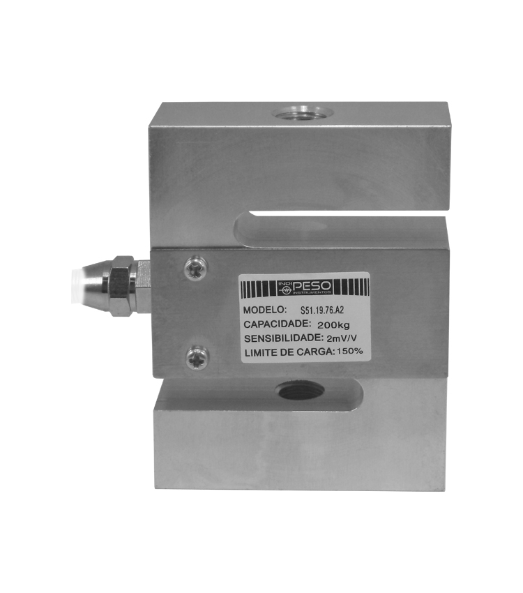 Célula de Carga SZ51-50 - Capacidade 50Kg - Alumínio - M8 - IP66  (CS51.19.76-50)