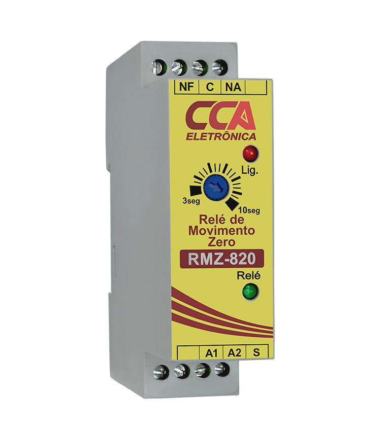 Relé Monitoramento de Movimento Zero RMZ-820 24Vcc