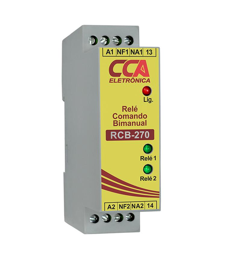 Relé para Comando Bi Manual RCB-270 24Vcc