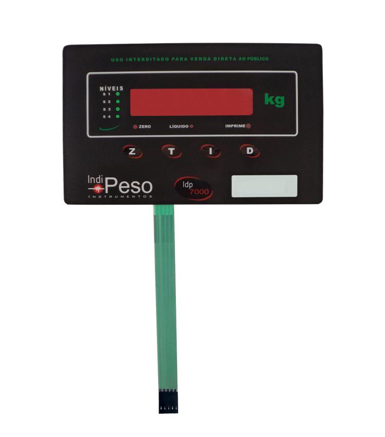 Membrana Frontal para Indicador IDP7000 106x165mm com 4 teclas
