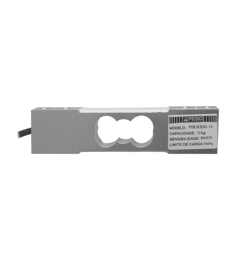 Célula de Carga P108.19.26.A2-15 - Capacidade 15Kg - Alumínio - M6 - IP66