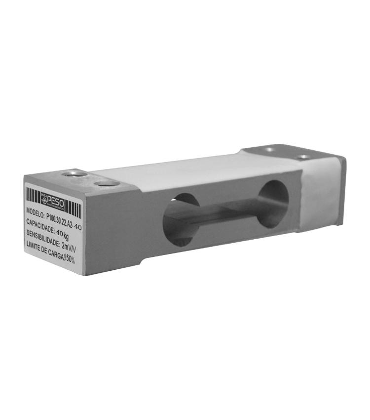 Célula de Carga P100A2-40 - Capacidade 40Kg - Alumínio - M6 - IP66  (P100.30.22.A2-40)