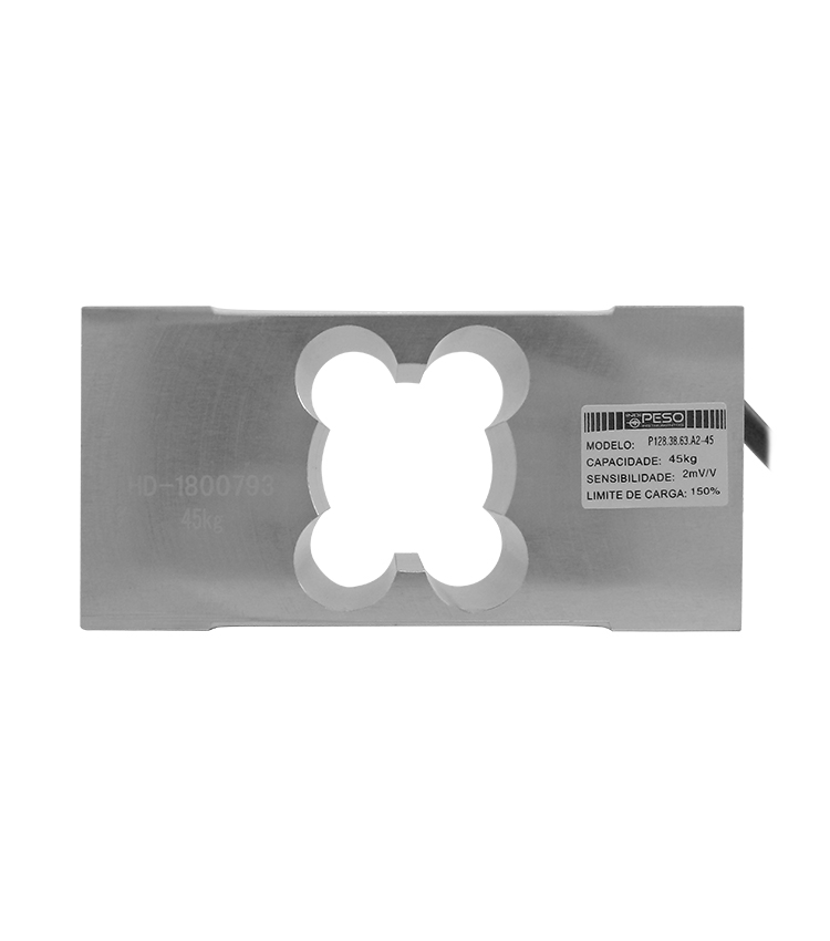 Célula de Carga P128A2-45 - Capacidade 45Kg - Alumínio - M6 - IP66  (CP128.38.63.A2-45)