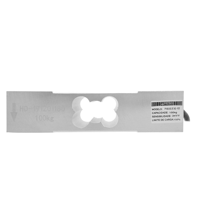 Célula de Carga P156A2-100 - Capacidade 100Kg - Alumínio - M8 - IP66  (P156.63.37.A2-100)