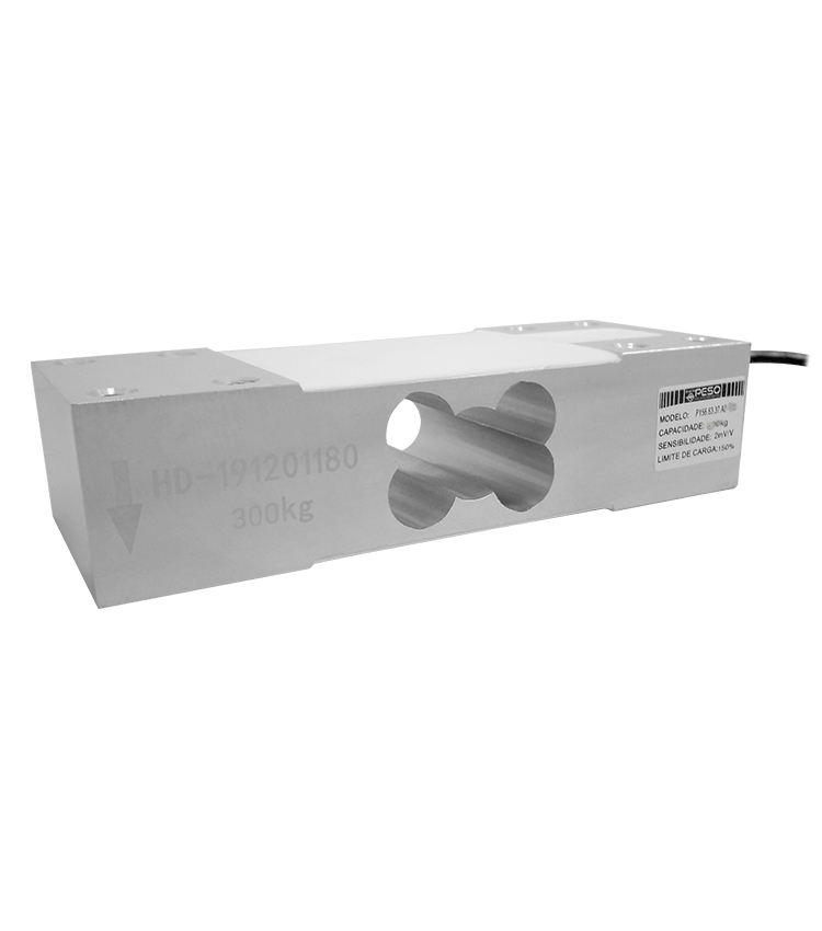 Célula de Carga P156A2-300 - Capacidade 300Kg - Alumínio - M8 - IP66  (P156.63.37.A2-300)