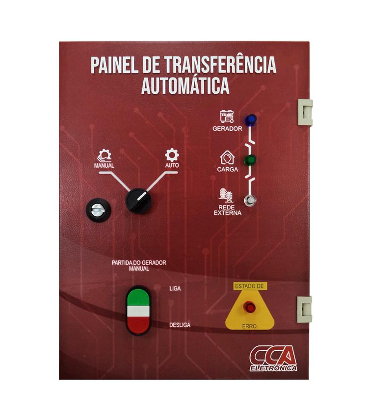 Painel Completo para Transferência Automática Rede/Gerador 70A Tetrapolar 220/380V com Controlador em Quadro Metálico CCA