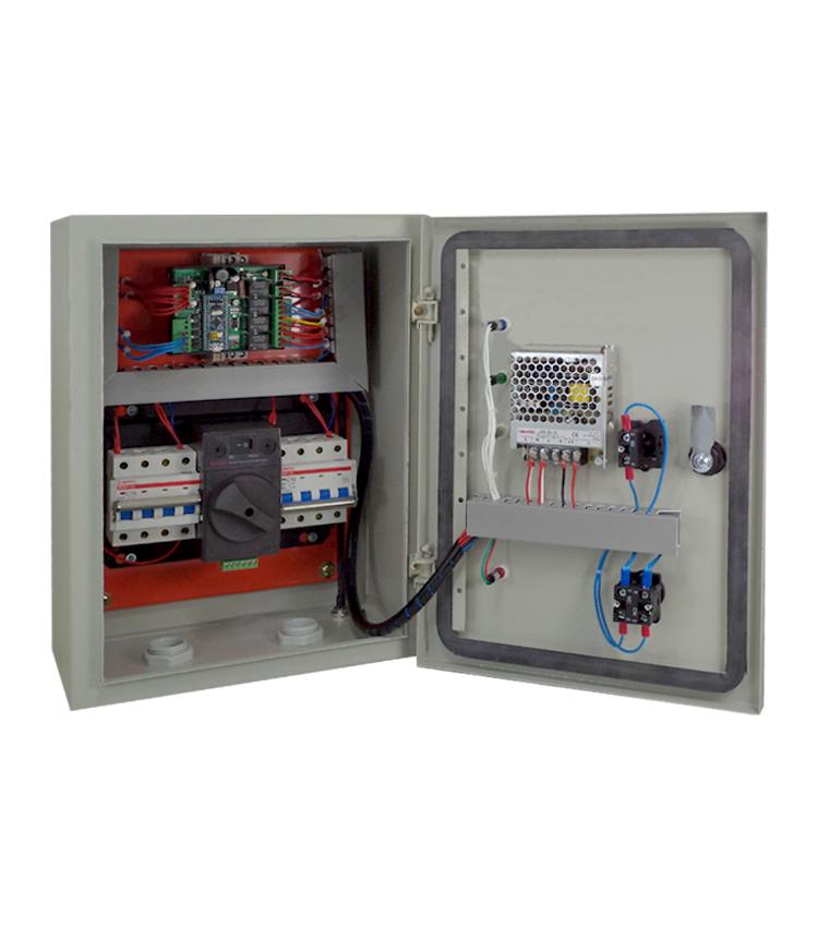 Painel Completo para Transferência Automática Rede/Gerador 63A Tetrapolar 220/380V com Controlador em Quadro Metálico CCA