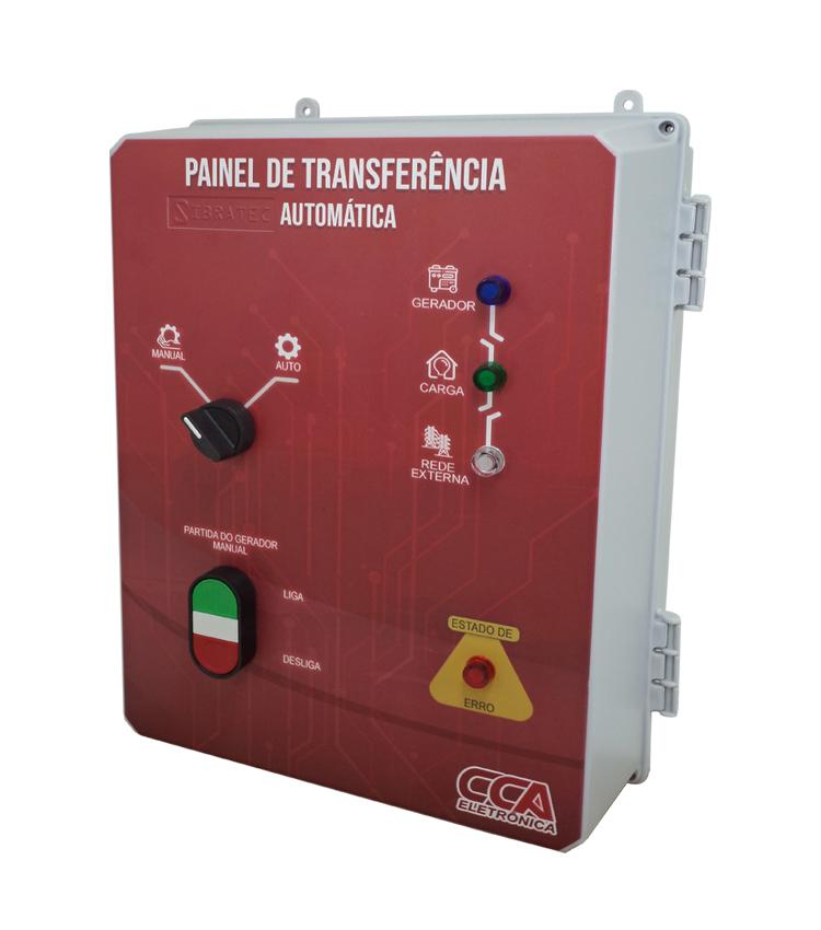 Painel Completo para Transferência Automática Rede/Gerador 63A Bipolar 220V com Controlador em Caixa Plástica CCA