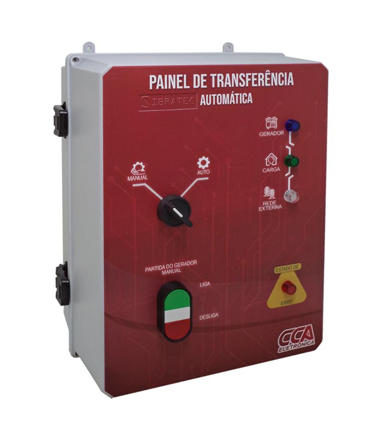 Painel Completo para Transferência Automática Rede/Gerador 70A Tetrapolar 220/380V com Controlador em Caixa Plástica CCA