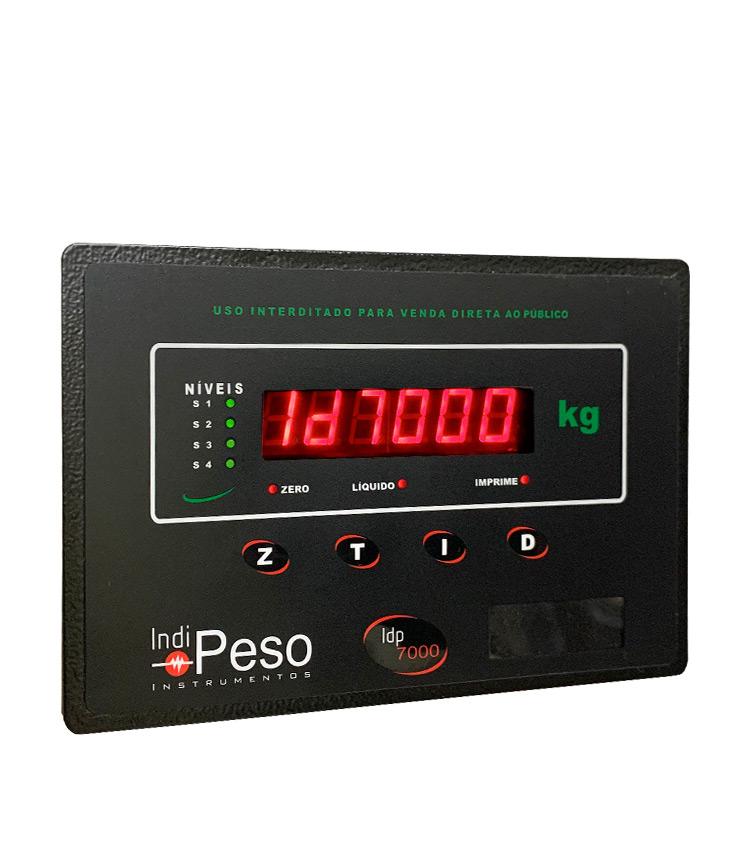 Indicador de Peso sem Gabinete para Painel IDP7000 LINE 24Vcc - Acompanha Frontal em Aço Carbono e Acessórios para Fixação