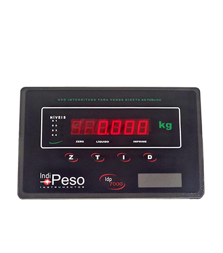 Indicador de Peso sem Gabinete para Painel IDP7000 PLUS 24Vcc - Acompanha Frontal em Aço Carbono e Acessórios para Fixação