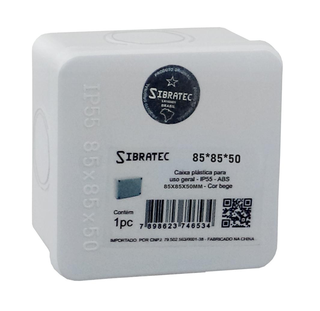 Caixa Plástica Multiuso 85x85x50mm IP55 - 4 Furos Laterais Destacáveis Ø32mm