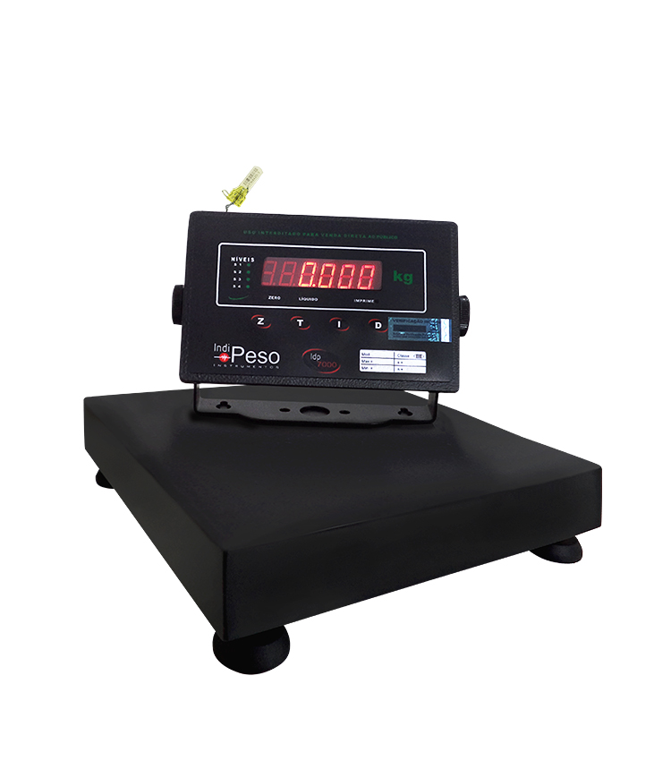 Balança de Bancada Standard BP-40BS.3030.A - Capacidade 40Kg(10g) - Plataforma 30x30cm - Sem Coluna - Material Aço