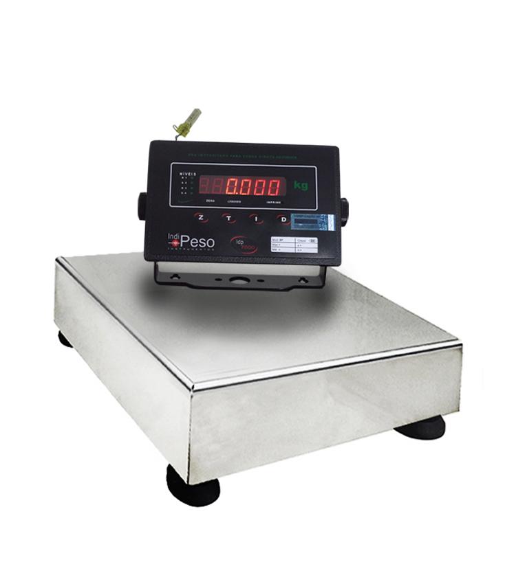 Balança de Bancada Standard BP-30BS.3030.AI - Capacidade 30Kg(5g) - Plataforma 30x30cm - Sem Coluna - Material Aço - Bandeja Inox *EM BREVE*