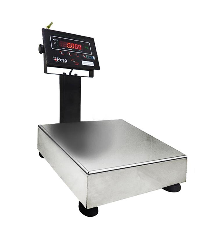 Balança de Bancada Standard BP-30BS.3030.AIC - Capacidade 30Kg(5g) - Plataforma 30x30cm - Com Coluna - Material Aço - Bandeja Inox  *EM BREVE*