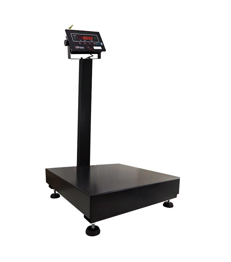 Balança de Piso Standard BP-100PS.4040.AC - Capacidade 100Kg(20g) - Plataforma 40x40cm - Com Coluna - Material Aço