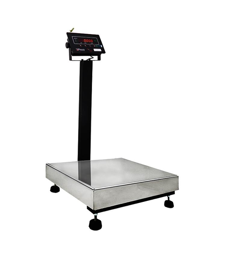 Balança de Piso Standard BP-100PS.4040.AIC - Capacidade 100Kg(20g) - Plataforma 40x40cm - Com Coluna - Material Aço - Bandeja Inox