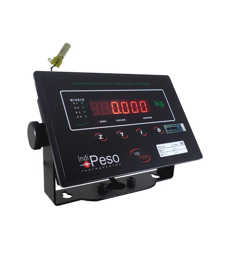 Balança de Piso Standard BP-200PS.5050.AI - Capacidade 200Kg(50g) - Plataforma 50x50cm - Sem Coluna - Material Aço - Bandeja Inox