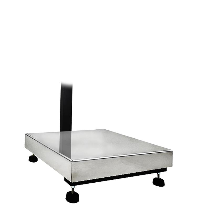 Balança de Piso Standard BP-200PS.5050.AIC - Capacidade 200Kg(50g) - Plataforma 50x50cm - Com Coluna - Material Aço - Bandeja Inox