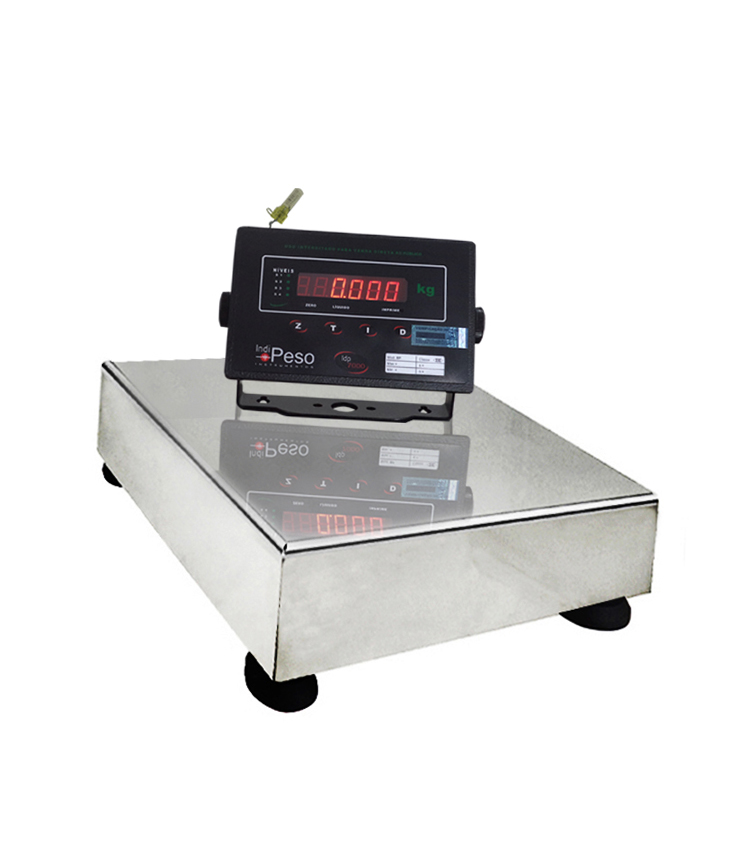 Balança de Bancada Standard BP-30BS.3030.AI - Capacidade 30Kg(5g) - Plataforma 30x30cm - Sem Coluna - Material Aço - Bandeja Inox