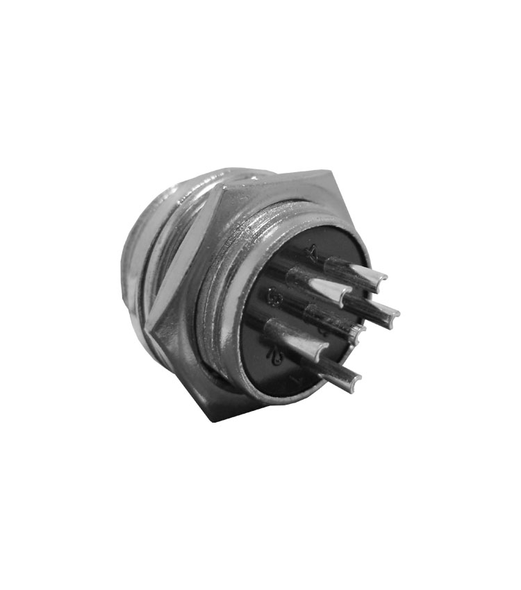 Conector Mike Circular Macho - 6 Vias - Pacote com 5 Peças*** (10600)