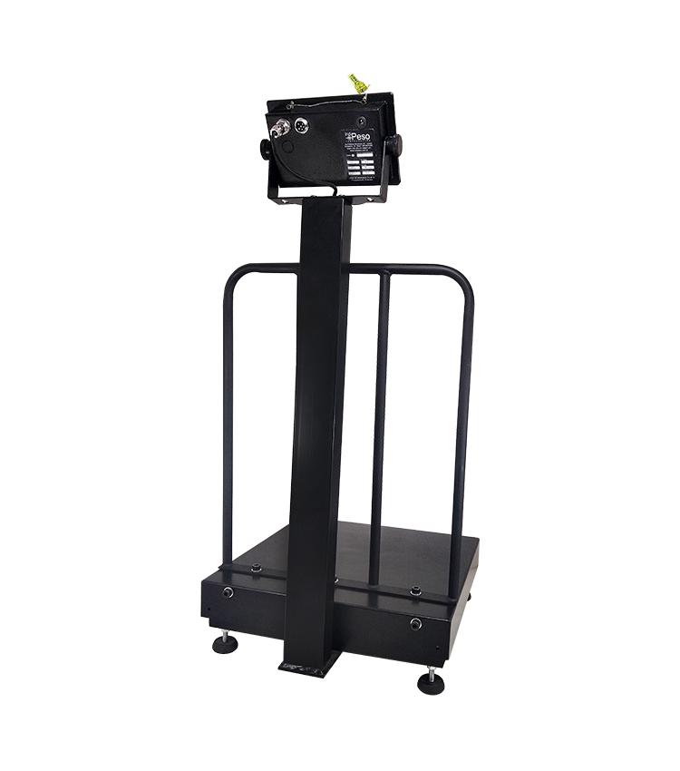 Balança de Piso Standard BPG-100PS.4040.AC Capacidade 100Kg (20g) - Plataforma 40x40cm - Com Coluna e Grade de Apoio - Material Aço