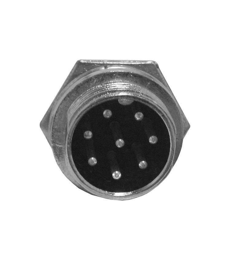 Conector Mike Circular Macho - 8 Vias - Pacote com 5 Peças*** (10601)