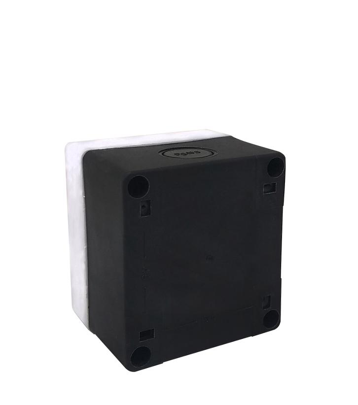 Caixa Plástica Branca BX1/1 com 1 Furo 22mm - Dimensões: 76x70x60mm (CxLxH)