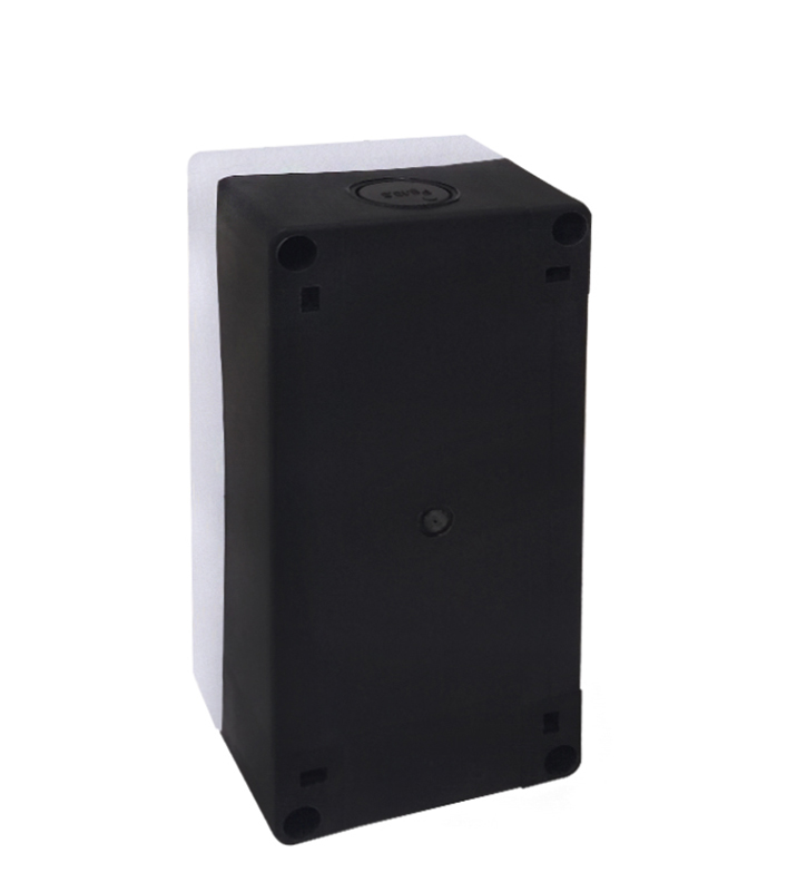 Caixa Plástica Branca BX1/3 com 3 Furos 22mm - Dimensões: 148x70x65mm (CxLxH)