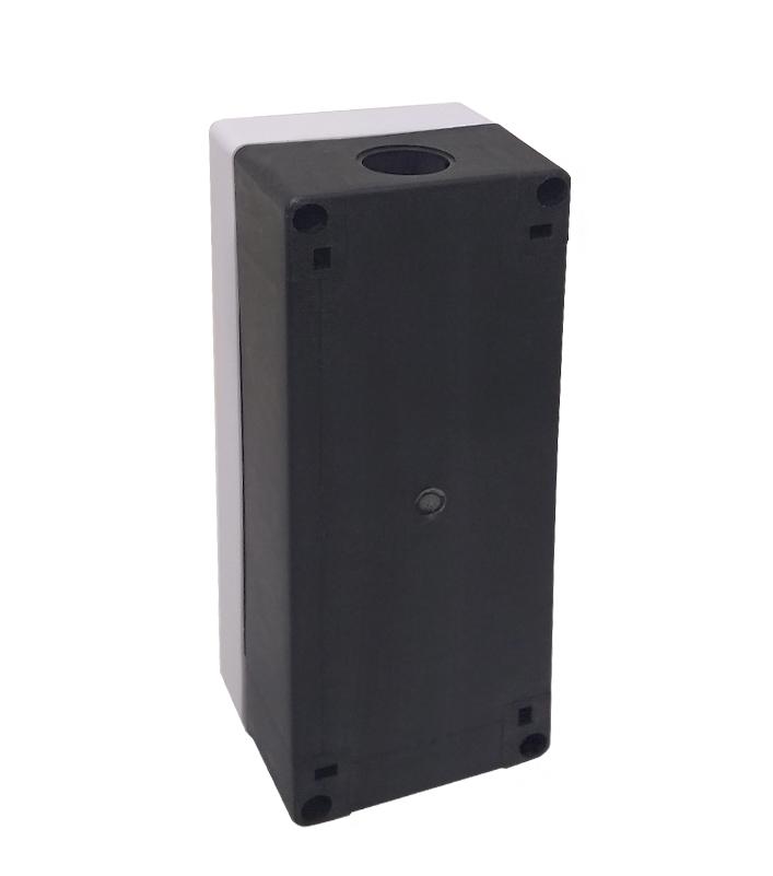Caixa Plástica Branca BX1/4 com 4 Furos 22mm - Dimensões: 185x70x65mm (CxLxH)